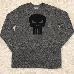 Marvel The Punisher Grey Long Sleeve T-Shirt SM